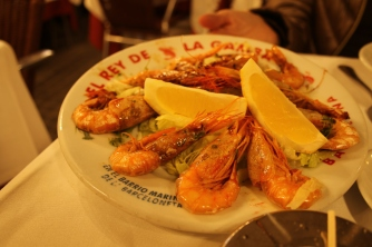 Gambas a la Parilla - very well prepared.